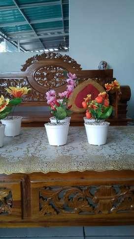 Bunga pot  plastik palsu