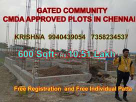 THIS IS 100% TRUE, IMMEDIATELY CONSTRUCTION CMDA APPROVED PLOTS IN CHE