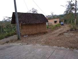 Jual tanah 2002 m2 plus rumah baru