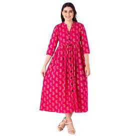 4000 kurtis Anarkali embroidered 60-60 cotton