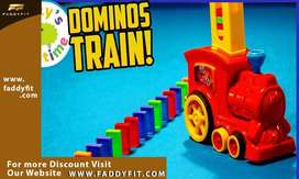 Auto Placement Dominoes Train Set - Educational Game for Children