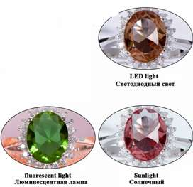 alexandrite Color changing stone. {Marqush}