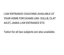 Law entrance exam coaching and LLB subjects