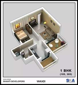 1 bhk flats available at Panvel