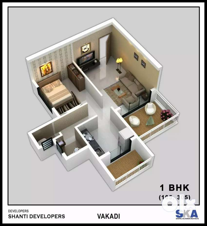 1 bhk flats available at Panvel 0