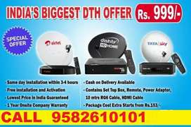 ALL NEW DTH CONNECTION AIRTEL- DISH TV- VIDEOCON D2H-TATA SKY