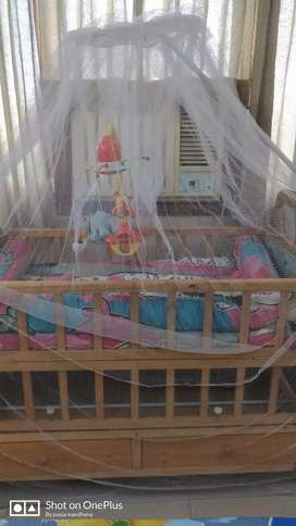 2 in 1Baby Cot swing