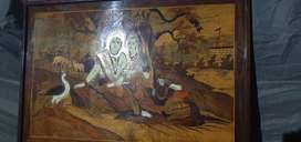 Antique art made by ivary and wood blocks.