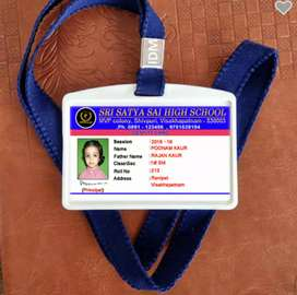 We make Identity Cards for schools, collegs, employees, etc.,  Rs.25