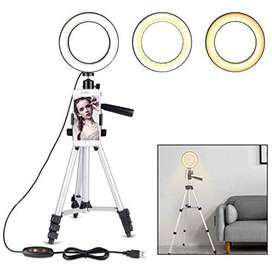 26cm Ring Light For Tik Tok In 3 Modes with seven feet tripod