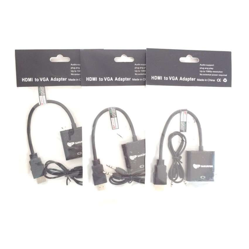 N E W Converter HDMI to VGA with Audio untuk laptop ke lcd proyektor