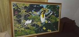 Lukisan Burung Cendrawasih