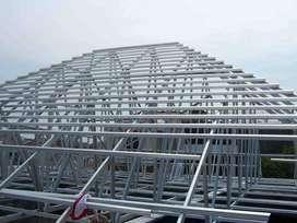 konstruksi pemasangan baja ringan, baja berat bentang panjang & taman