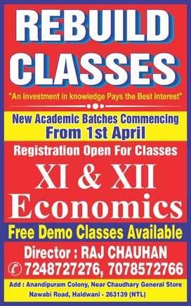 Rebuild Classes Haldwani Economics class 11th & 12th