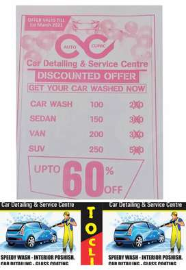 Get your car wash in 100 rupees till 1st march