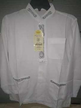 Baju takwa putih anak usia 10-12y baru