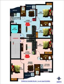 2BHK Flats for sale at Pammal at affordable cost @ 42 Lakhs