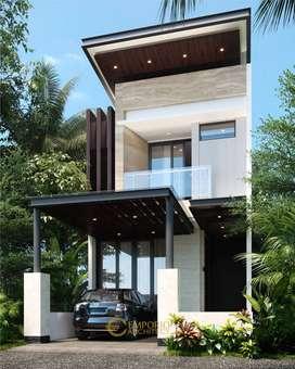 Jasa Arsitek Tangerang Selatan Desain Townhouse 163m2