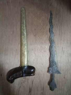 Keris Putut Sajen  omyang Jimbe lawas kuno Antik Luk  11