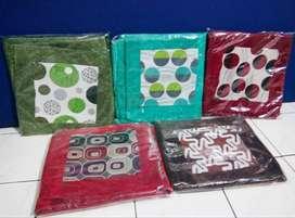 Set Sarung Cover Bantal Sofa Kursi Tamu & Taplak Meja Isi 5 Pcs Bs COD