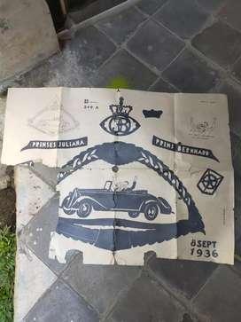 Poster Antik Pertunangan Prinses Juliana thn 1936