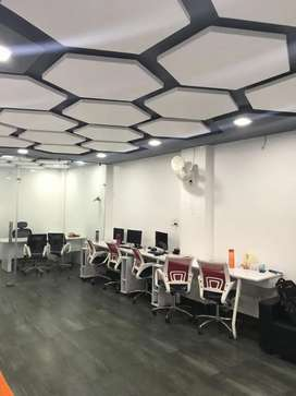 Looking for corporate look fully furnished office for rent