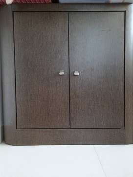 Wooden cabinet 3ft × 3ft. Made of solid wood.