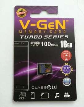 MMC HP Memory MicroSD V-GeN Turbo 16gb
