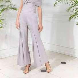 Celana fashion premium wide leg formal cutbray