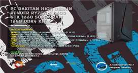 PC RAKITAN RYZEN 5 3600 | 16GB RAM KIT RGB | GTX 1660SUPER | 256GB M.2