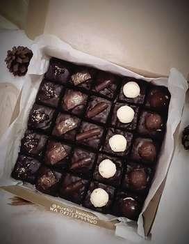 Brownies sekat crunchy