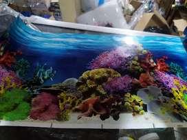 Background Aquarium gambar tinggi 30 cm