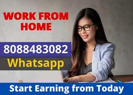 Earn Rs.10,000 weekly. Work from home. Data entry jobs