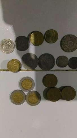 Uang Koin gambar kelapa sawit dan Uang Kertas Antik