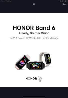 Honor Band 6 Slightly Used With Box and Accessories