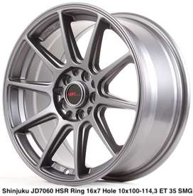 al new SHINJUKU JD7060 HSR R16X7 H10X100-114,3 ET35 SMG