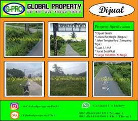 Dijual Tanah Daerah Simpang Tiga Jalan Tengku Bey Lokasi Bagus