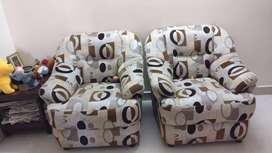 3 seater sofa and 2 single seater sofa in good condition ,