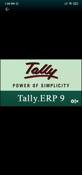 Tally ERP 9 Operator required Male/Female