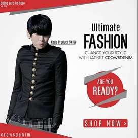 Blazer Black Casual Button Stright Korean Style - SK61