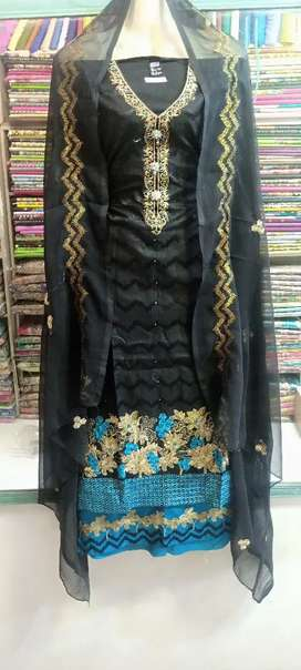 Cotton with contrace shalwar