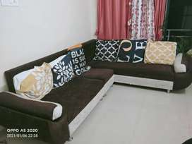 Urgent sell ,6 seater L shape sofa , with vision pillows