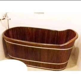 Wooden Bathtub Nuansa Padang Terrazzo