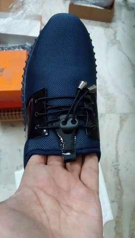 Blue Black Shoes