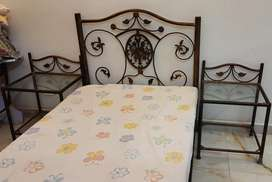 Single wrought iron bed for sale