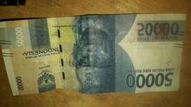 Uang mistprint 50.000