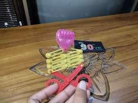 GUNTING TINJU warna 1PCS. Mainan JADUL Anak 90an. Scissor Punch. MURAH
