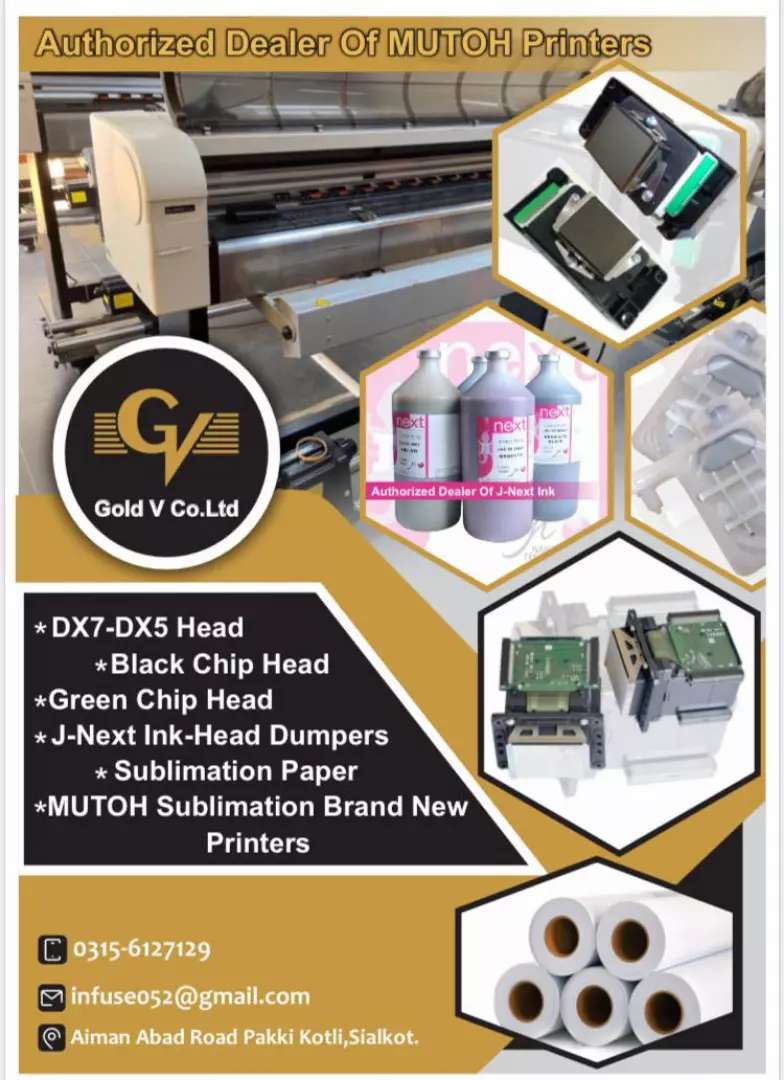 Dx5 head dx7 head Mutoh and Mimaki Sublimation machines J next  ink 0