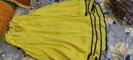 Yellow colour western dress