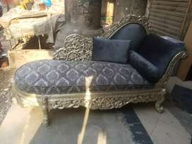 Solid sheesham carved dewan / settee